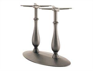 Randa 727, Base de table en fonte avec double colonne