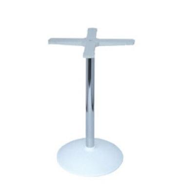 Round base cod. BRCC, Base pour table de bar, colonne en métal chromé