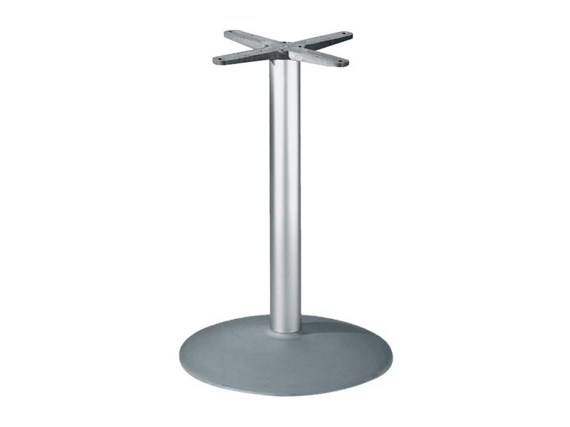 Round base h 115 cod. BTAK54, Round base de table en aluminium