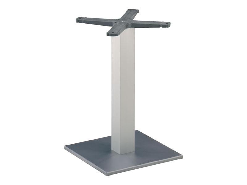 Square base cod. BQJ, Base pour table de bar, colonne en aluminium anodisé