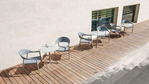 Summer set base low, Base de table en acier inoxydable, pour l'extérieur