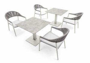 Tuxedo base low, Base de table pour l'extérieur, hauteur 66 cm