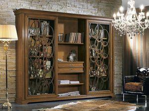 Armonie bibliothèque, Bibliothèque avec portes coulissantes