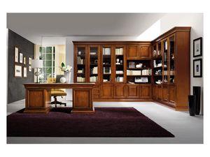 Art.0742/L, Coin bibliothèque en bois, style classique