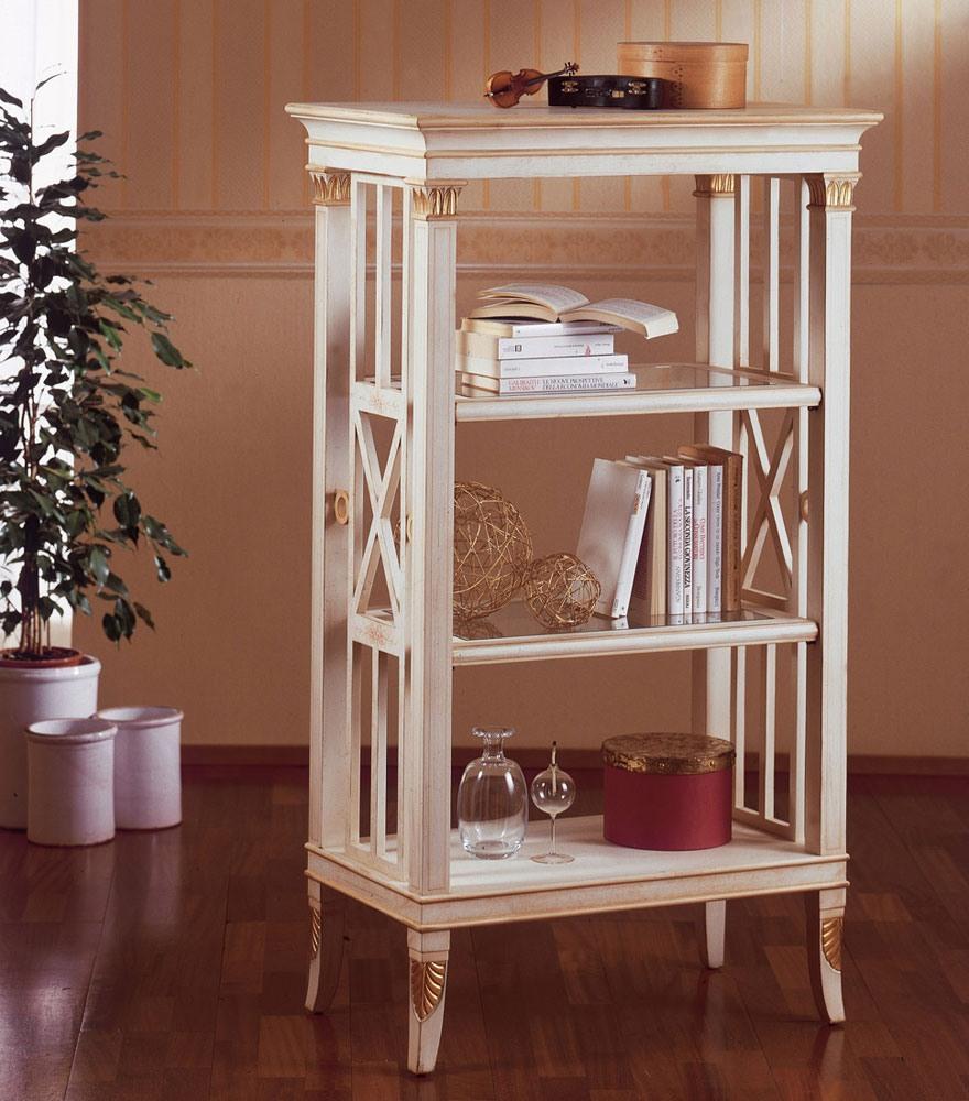 Art. 202, Petite bibliothèque en bois, décorations de feuilles d'or, pour le salon