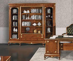 Art. 3000, Bibliothèque avec décorations en bruyère