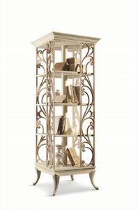 Art. 750, Bibliothèque tournante en bois pour les salons de style classique