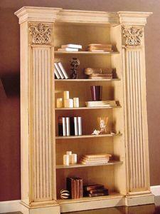 Art. 756, Bibliothèque laqué, avec des chapiteaux, pour classique salon