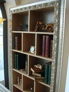 Art. 902, Hanging bibliothèque en chêne brossé, pour les classiques salons