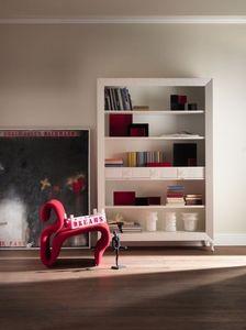 Art. CA413, Bibliothèque dans un style classique, avec des tiroirs, en en bois précieux
