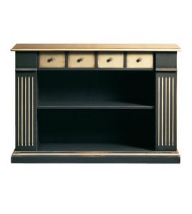 Camilla FA.0105, Bibliothèque avec 4 tiroirs et 2 étagères, dans un style classique