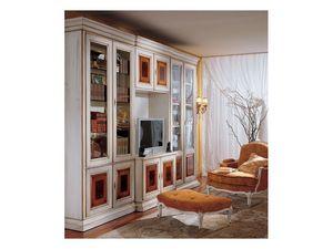 Display bookcase 731 A, Bibliothèque classique de luxe en bois