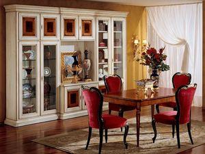 Display bookcase 731 A2, Bibliothèque classique de luxe en bois