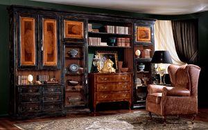 Display bookcase 731 F, Bibliothèque avec finition noire