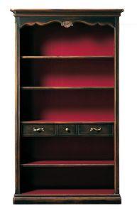 Grazia FA.0096, Bibliothèque provençale avec trois étagères et trois tiroirs