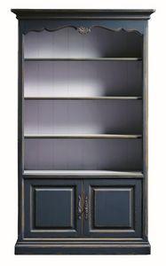 Lorena FA.0100, Bibliothèque avec 2 portes et 4 tablettes, dans un style classique