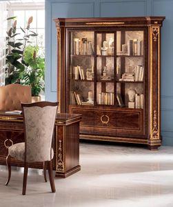Modigliani bibliothèque 3 portes, Bibliothèque majestueuse aux formes harmonieuses