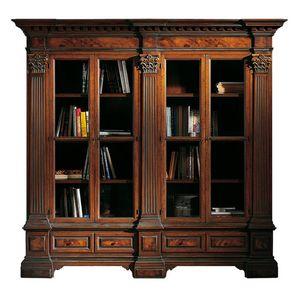 Sillano ME.0124, Bibliothèque classique, avec des chapiteaux corinthiens