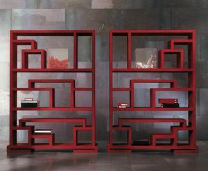 4402 Labirint, Bibliothèque en bois à deux faces, avec un design moderne