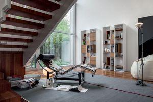 ABACO, Bibliothèque en bois, modulaire, pour le salon