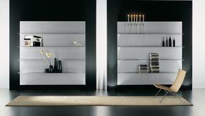 ALL comp.02, Composition des étagères pour la maison moderne, en aluminium