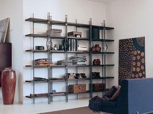 Be Bop, Étagére en bois et métal adapté pour un usage résidentiel