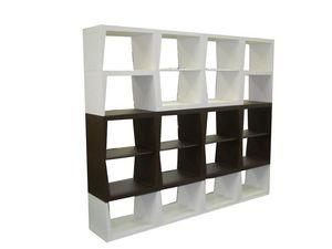 B&B, Bibliothèque modulaire, étagères en bois, idéal pour un usage résidentiel
