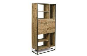 Bibliothèque 2A Egon, Bibliothèque minimale avec structure en acier