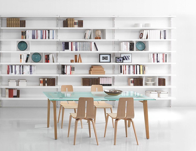 Big, Bibliothèques contemporaines en aluminium, pour les maisons et bureaux