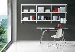 Big wall unit, Bibliothèque moderne pour le bureau et la maison