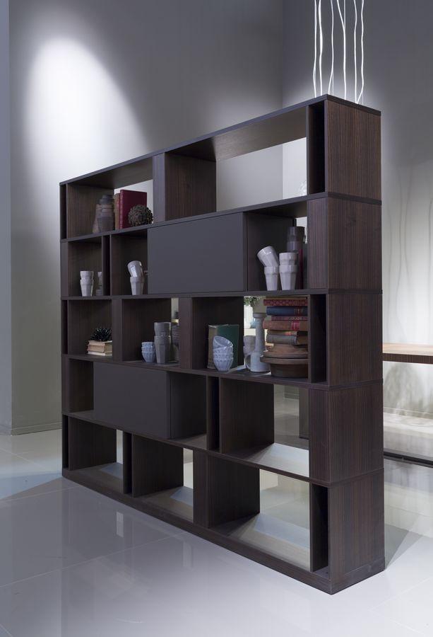 BRERA comp.01, Bibliothèque du haut design avec double côté, personnalisable