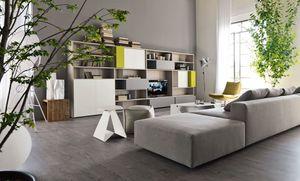 Citylife 16, Bibliothèque moderne pour les salles de séjour