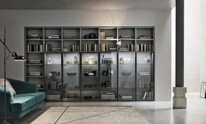Comp. A053, Bibliothèque avec portes en verre