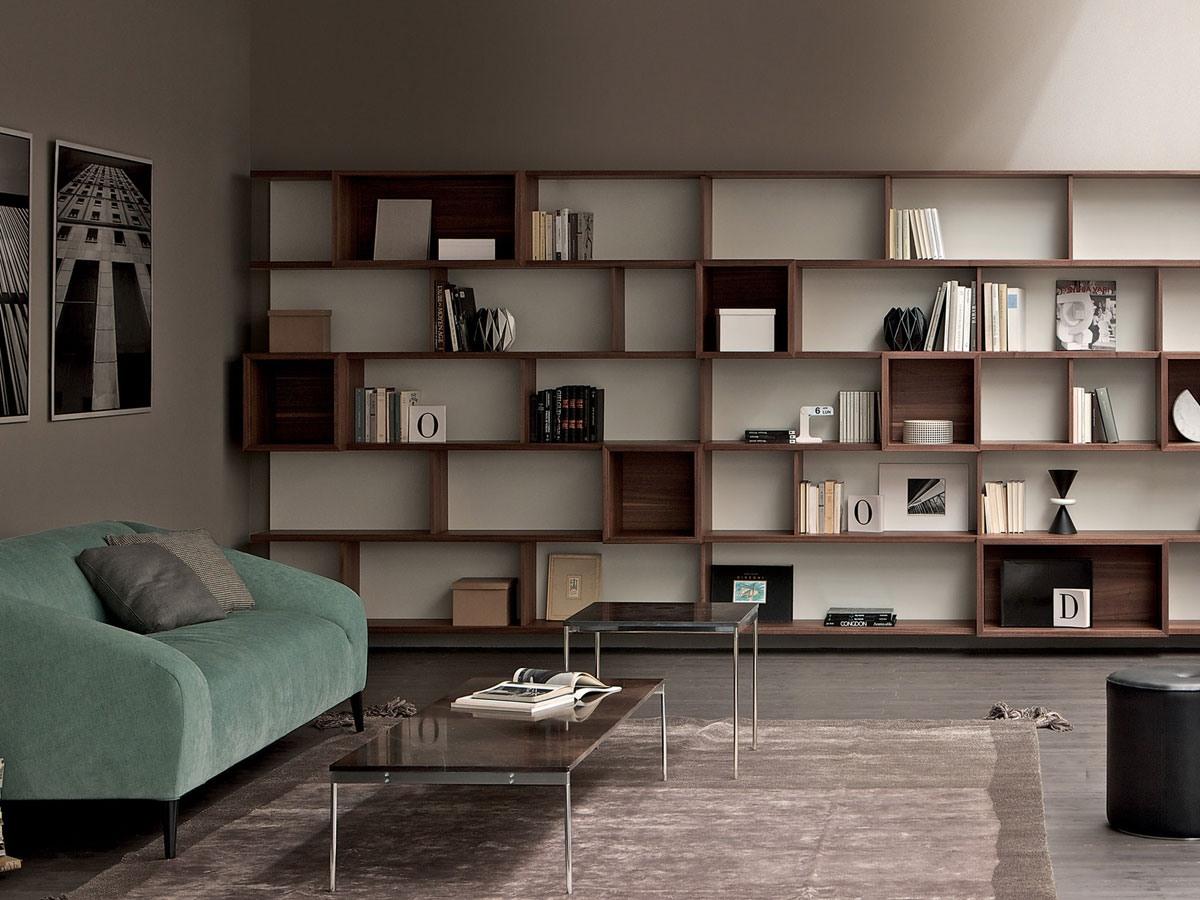 Mur de rangement bibliothèque modulaire pour la maison et le bureau
