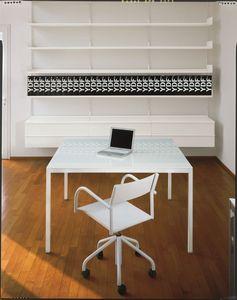 Elle System Office, Bibliothèque en métal laqué, modulaire, pour les bibliothèques et bureaux