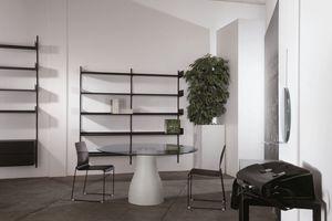 Elle System Shopfitting, Bibliothèque modulaire, en métal laqué, adapté pour les pharmacies et les magasins