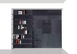 Freedom étagère, Boiserie équipée d'étagères, bibliothèque en métal personnalisable