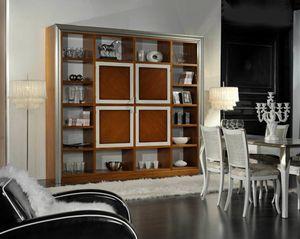 Granato, Bibliothèque en bois avec portes centrales