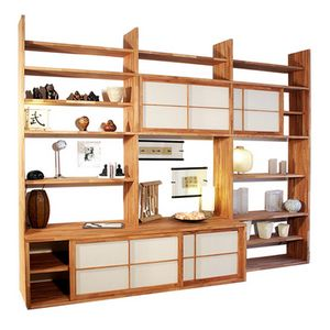 Haru-A, Bibliothèque sur mesure avec meuble TV