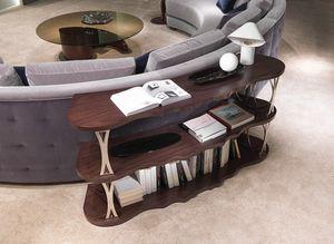 LB45 Mistral, Rétro étagère canapé, avec étagères courbes