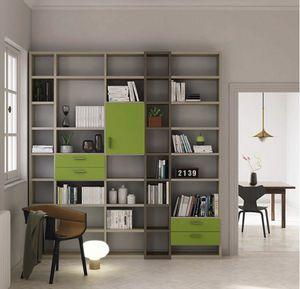 Modular – Mood 3, Bibliothèque modulaire avec tiroirs