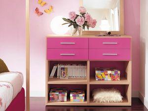 Modulari comp.04, Bibliothèque adaptée à la chambre d'enfant