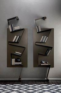 NOTA, Bibliothèque en métal laqué