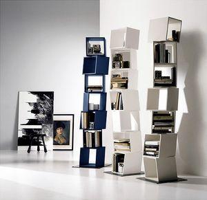 RUBIK comp.01, Bibliothèque composée de moduls renouvelables, pour les maisons modernes