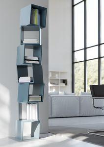 RUBIK comp.02, Bibliothèque moderne pour la maison, composée de cubes