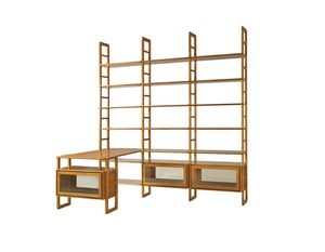 Scala FS3410176, Bibliothèque modulable en bois