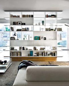 Set System, Etagères avec deux côtés, pour les salons et les bureaux modernes