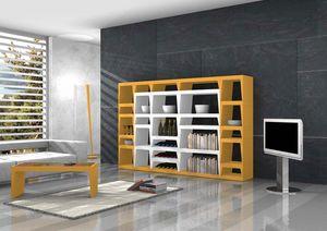 Shoeila, Bibliothèque design en stratifié laqué