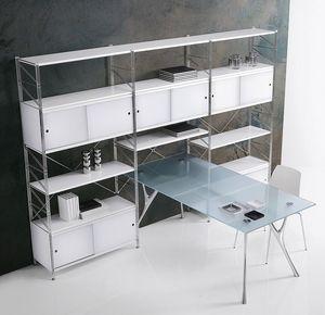 Socrate fermeture, Bibliothèque modulaire pour la maison et le bureau