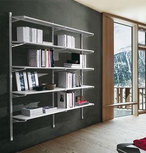 Socrate home, Mobile pour les livres avec des étagères en verre, à usage domestique